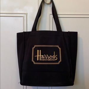 Black tote from Harrods